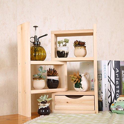 Yang baby Moderno minimalista de madera maciza de múltiples capas con cajones Estantes Mesas de estantería Escritorio de estudiantes de oficina estiramiento (Color : Wood color)