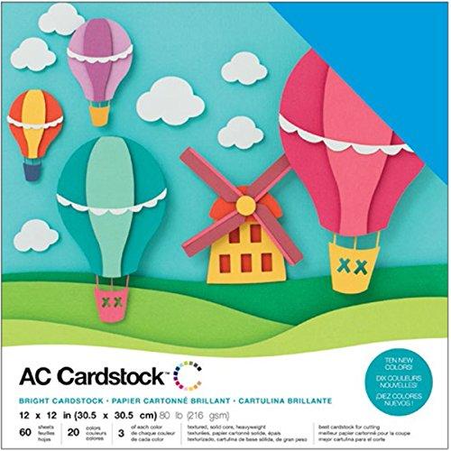 American Crafts 376990tonkartons Variety Pack Brights 60Blatt 30,5x 30,5cm grußkartenkarton