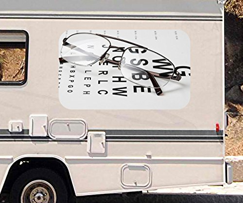 3D Autoaufkleber Arzt Auge Augenarzt Brille Test Beruf Wohnmobil Auto KFZ Fenster Motorhaube Sticker Aufkleber 21A1043, Größe 3D sticker:ca. 120cmx73cm