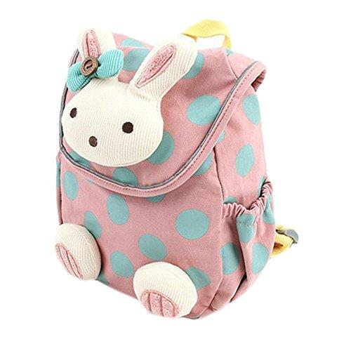 HBF Mini Babyrucksack Kindergartenrucksack Kindergartentasche Backpack Schultasche Kinder mehr Sicherheit(rosa) -