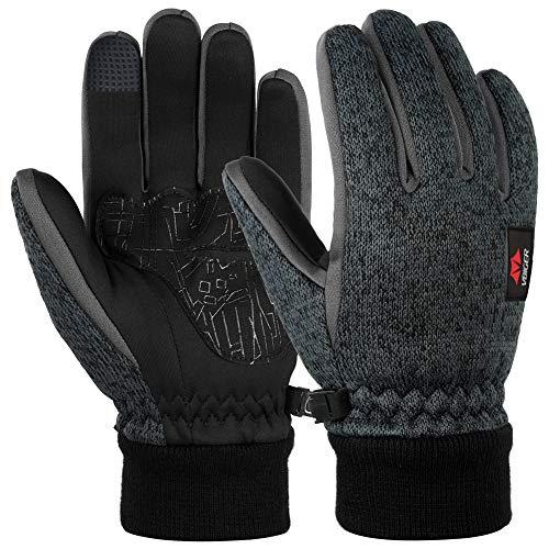 Vbiger guanti touch screen guanti invernale guanti outdoor guanti da uomo guanti invernale uomo (large, blue ash)