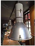INDUSTRIELAMPE XXL Loft Lampe Industrie Gastro Büro 75 cm Hoch Alu Metall Echt Vintage