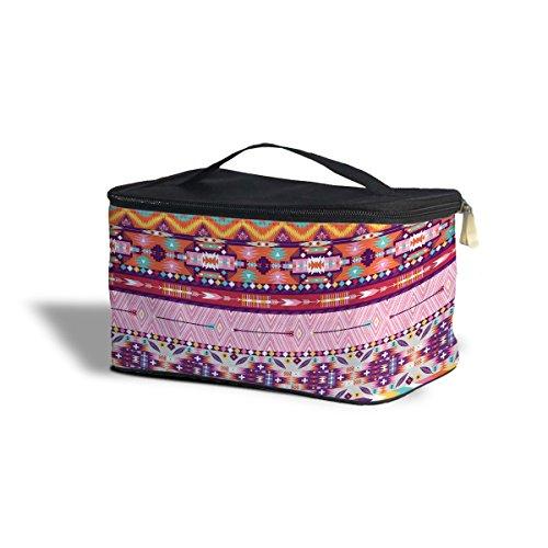 Candy Rainbow Tribal Aztèque géométrique étui de rangement de Cosmétique – Maquillage à fermeture Éclair Sac de voyage, Polyester, multicoloured, One Size Cosmetics Storage Case
