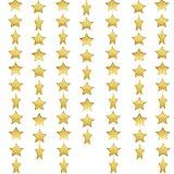 Whaline 52 Fuß Sterne Papier Garland Bunting Banner Hängedekoration für Hochzeit Urlaub Party Geburtstag, 2,75 Zoll