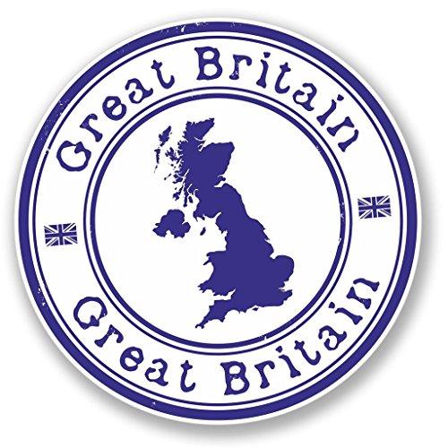 2 x 20cm/200mm GB Großbritannien Großbritannien Vinyl SELBSTKLEBENDE STICKER Aufkleber Laptop reisen Gepäckwagen iPad Zeichen Spaß #4154 - 20 Gb-notebook
