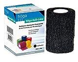 Höga-Haft-Color schwarz 8 cm x 4 m gedehnt, kohäsive (selbsthaftende) elastische Fixierbinde, 2er Pack (2 x 1 Stück)