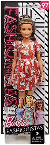 ionistas Puppe, im roten Kleid, mit Kätzchen Print ()