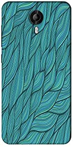 Snoogg Seamless Waves Texture Designer Protective Back Case Cover For Micromax Canvas Nitro 3 E455
