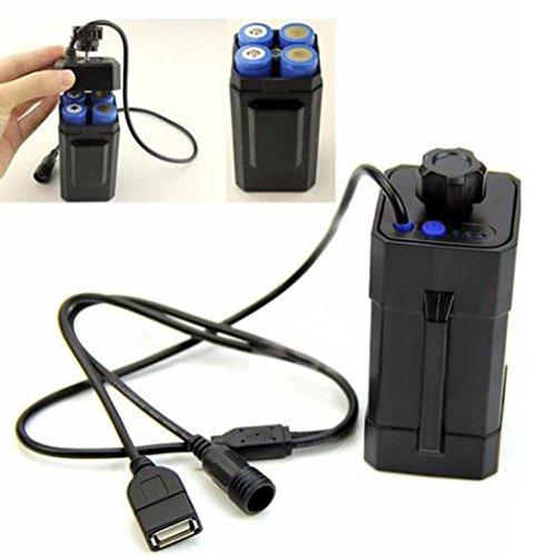 1 Stück Fahrrad Wasserdicht 4x 18650 Batterie Speicherung, Siswong Tragbar Taschenlampe Fackel Batterie Case Box Holder LED Licht Lampe(Batterie ist nicht enthalten) (Led-licht-lithium-knopf-batterie)