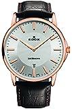 EDOX Unisex-Armbanduhr EDOX LES BÈMONTS SLIMM MOVEMENT Analog Quarz Leder 56001 37R AIR