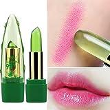 99% Aloe Vera Jelly Lippenstift Farbe Ändern Temperatur Feuchtigkeitsspendende Balsam Lipgloss