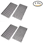 CCCYMM 4 Pcs Grid Divider Tray Egg Crate Louvre Aquarium Fish Tank Bottom Isolation,Black 7