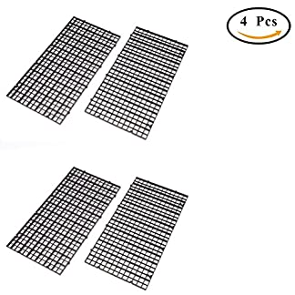 CCCYMM 4 Pcs Grid Divider Tray Egg Crate Louvre Aquarium Fish Tank Bottom Isolation,Black 18