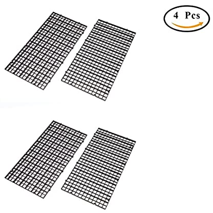 CCCYMM 4 Pcs Grid Divider Tray Egg Crate Louvre Aquarium Fish Tank Bottom Isolation,Black 1
