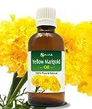 Aceite esencial de caléndula amarilla, 100% puro y natural, sin diluir, envase de 30ml.