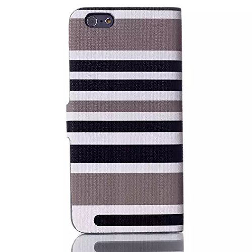 """inShang Hülle für Apple iphone 6 4.7 inch iPhone6 4.7"""", Edles PU Leder Tasche Hülle Skins Etui Schutzhülle Ständer Smart Case Cover für iphone 6 Cell Phone, Handy , Zubehör + inShang Logo hochwertigen A Stripe grey"""