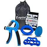 aptletics® Universal Handtrainer Fingertrainer Set 5 in 1 - Fingerhantel Unterarm trainingsgerät unterarmtrainer griffkraft trainer hand grip strengthener hand-trainingsgerät handmuskeltrainer