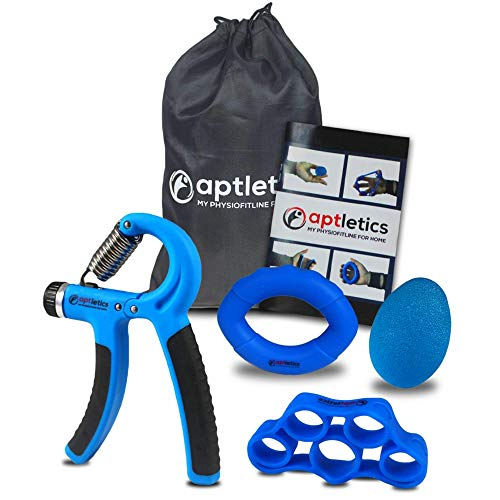 aptletics® 5-in-1 Handtrainer Set - 4 Innovative Fingertrainer Unterarm trainingsgerät unterarmtrainer griffkraft trainer hand grip strengthener hand-trainingsgerät handmuskeltrainer