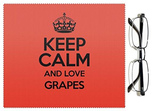 RED Keep Calm and Love, colore: uva, cesoie e panno per lenti