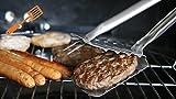 Der Stingray 7 in 1 BBQ Tool - Das beste Grillwender Grillbesteck Grillzange Lang Grillgabel Grillspieß aus Edelstahl -
