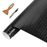 Carbon Folie 3D Struktur fühlbare Struktur 30 x 152 cm selbstklebend Carbonfolie Auto Klebe Folie folieren