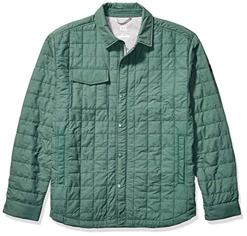 Cutter & Buck Herren Lightweight Primaloft Fill Rainier Shirt Jacket Daunenalternative, Mantel, Hunter Melange, Klein -