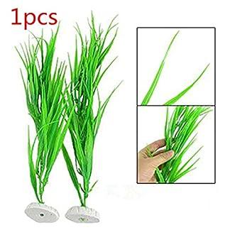 Artificial Plastic Plants Aquarium Decor Ceramic Base Water Grass for Fish Tank Decoration Ornament Aquascape by… 13