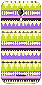 Snoogg Brick aztec Designer Protective Back Case Cover For Micromax A116