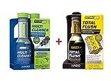 XADO Benzin Kraftstoff-System-Reiniger & Motor Ölsystem-Reiniger - Multi Cleaner Benzin & Total Flush - Atomex 2er Set
