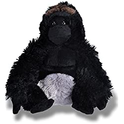 Wild Republic-10929 Peluche Gorila Cuddlekins, Color Negro (10929)