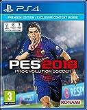 gioco pes 2018 konami per ps4 sony playstation4 pes2018 game + premium edition multilingua pro evolution soccer italiano settabile all avvio videogioco calcio