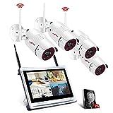 Tout-en-Un Système de Caméra Sécurité avec 12Pouce LCD Moniteur, Vidéo Caméra...
