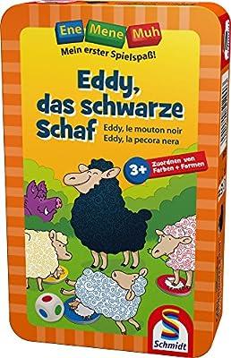 Schmidt Spiele- Jeu de Voyage Ene Mene Muh-Eddy Le Mouton, 51290, Noir