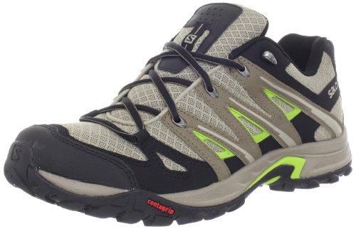 SALOMON Eskape Aero Zapato de Hiking Caballero, Gris/Verde, 40 2/3