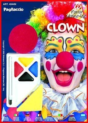 WIDMANN Set Clown Make-up Farben
