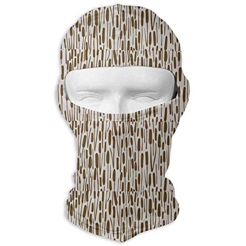Hoklcvd Coffee Sage Full Face Mask Sun Dust Wind Protection Durable Breathable Seamless Face Mask Bandana Design19
