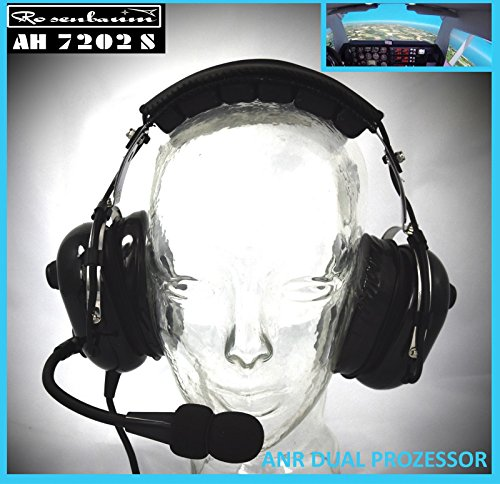 Passive Aviation Headset (Rosenbaum Aviation ANR Headset AH 7202 S aktiv mit Twin Prozessor)