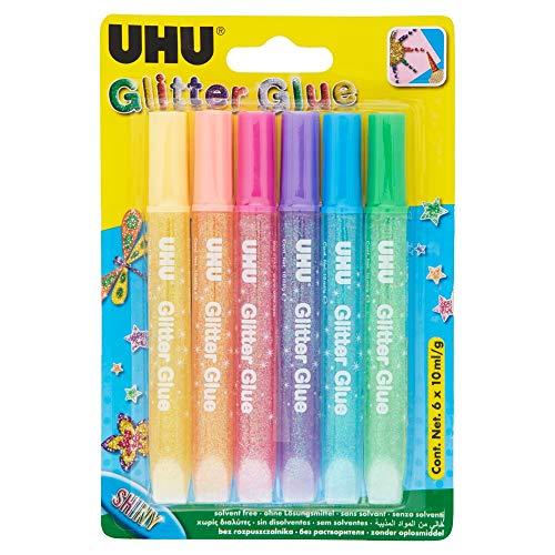 UHU Glitter Glue Shiny 6x10ml