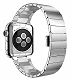 Phone Star Edelstahl Butterfly Armband Uhrenband für Apple Watch 42mm Series 3, 2 und 1 [verbesserter Verschluss] Replacement Strap