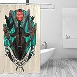 COOSUN Ziege Druck Duschvorhang, Polyester-Gewebe Duschvorhang, 66 x 72-inch 66x72 Mehrfarbig