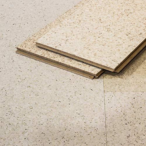 CORCASA Korkboden Design strukturiert weiß lackiert Klicksystem warmer Kork Bodenbelag Klick Tanami