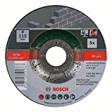 Bosch Home and Garden 2609256334 5-Piece Cutting disc Set with Depressed Centre for Stone