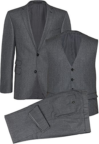 CARL GROSS Herren Business Anzug Suit Dreiteiler CG Foster 62-075N0-81 grau,Größe 46
