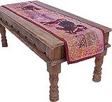Guru-Shop Orientalischer Tischläufer, Wandbehang, Einzelstück, 130x65 cm, Tischläufer, Tischdecken