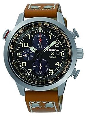 Seiko SSC421P1 - Reloj para hombre, color blanco / gris