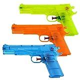 Schramm® 3 Pezzi Pistole ad Acqua Classiche Pistole ad Acqua da ca. 20,6 cm Pistola ad Acqua