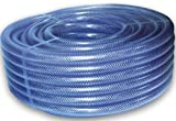 "25mm (1"") Clear Braided PVC Hose Pipe - 10m Length - Heavy Duty, Water, Airline, Compressor, Food Grade"