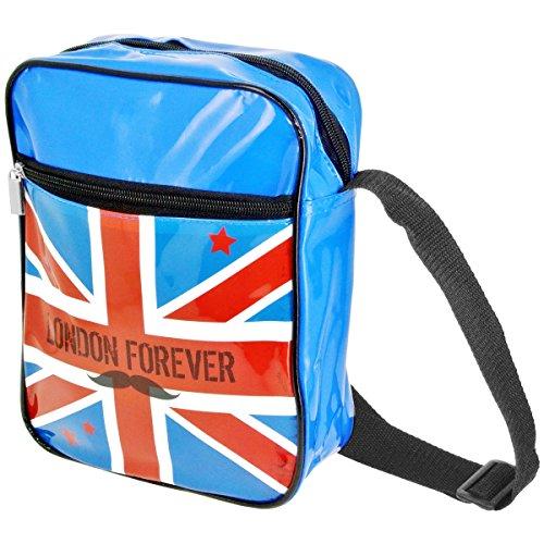 Londres Sacoche Besace Imprimé London Forever Drapeau Royaume Uni Idéal Tablette Appareil Photo Bleu