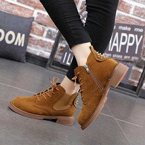 Modelli autunno e inverno Martin stivali scarponi corti velo rivet scarpe stivali britannici brown