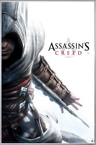 Assassins Creed Poster Altair Hidden Blade (93x62 cm) gerahmt in: Rahmen silber matt